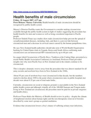 Health benefits of male circumcision - Pollock Clinics