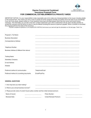 Commercial Combined Proposal Form For The Glass And Glazing Industry