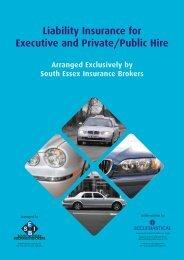 Liability Insurance for Executive and Private/Public Hire - SEIB