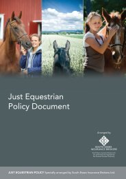 Just Equestrian Policy Document - South Essex Insurance Brokers
