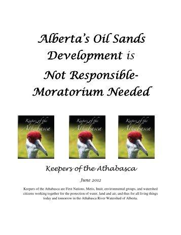 Moratorium Needed Moratorium Needed - Keepers of the Water