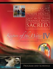 Conference program - Keepers of the Water