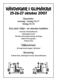 Glimåkra - Svenska Vävrådet