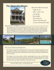 The Magnolia Manor - Lake Carolina