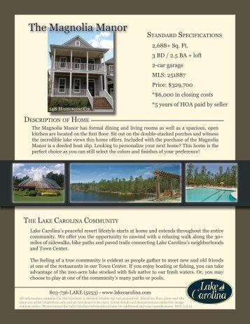 The Magnolia Manor - Lake Carolina