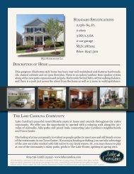 2138+ Sq. Ft. 2-story 3 BD/2.5 BA 2-car garage MLS ... - Lake Carolina