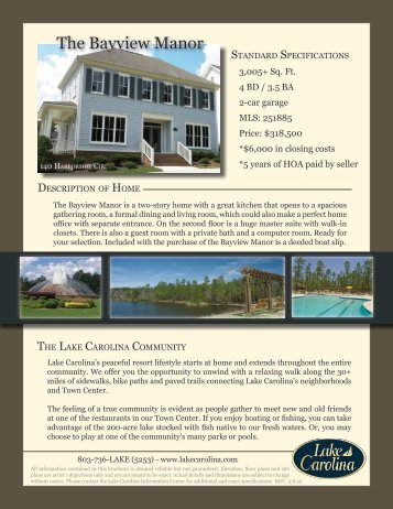The Bayview Manor - Lake Carolina