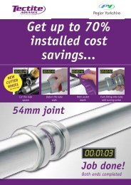 The galvanised carbon steel push-fit system - Pegler Yorkshire