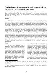 Adubação com silício: uma alternativa no controle de doenças da ...