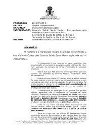 CLIQUE AQUI e confira o voto do conselheiro ... - TCE-SE - Sergipe