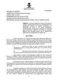 Voto discordante do conselheiro Clóvis Barbosa - TCE-SE - Sergipe
