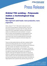 New high-tech weld heads: more productive,  more ... - Polysoude