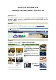Instrução de Acesso ao Sistema - TCE-SE - Sergipe