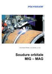 Soudure orbitale MIG – MAG - Polysoude