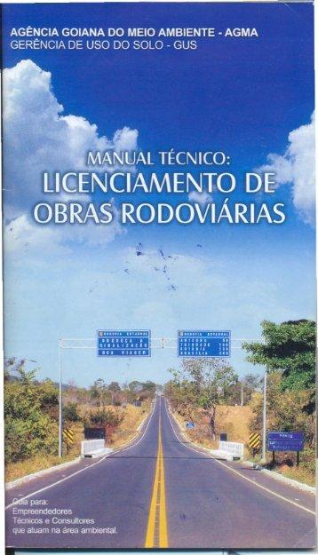 Manual Técnico: Licenciamento de Obras ... - Rodovias Verdes
