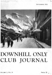 DOWNHILL ONLY CLUB JOURNAL