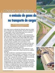 e emissão de gases do efeito estufa no transporte de cargas no Brasil