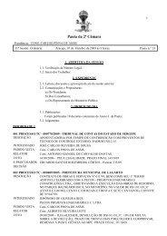 Faça aqui o download - Tribunal de Contas do Estado de Sergipe