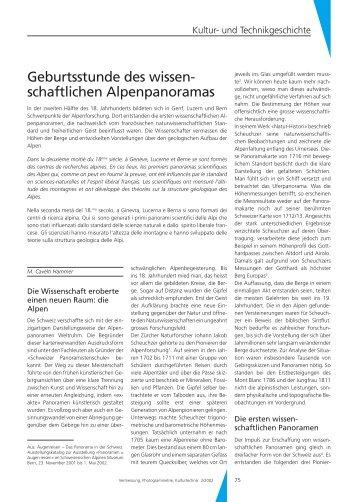 Geburtsstunde des wissenschaftlichen Alpenpanoramas