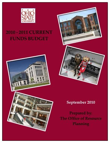 2010 - 2011 current funds budget - Financial Planning & Analysis