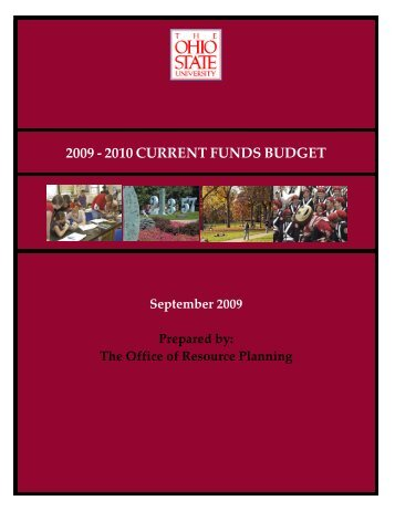 2009 - 2010 current funds budget - Financial Planning & Analysis
