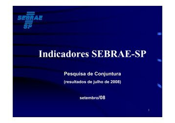 Indicadores SEBRAE-SP