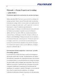 Polysoude : « Forum d'experts sur le soudage « joint étroit »