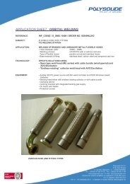 Welding of braided and unbraided metal flexible hoses - Polysoude
