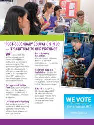it's critical to our province - Federation of Post-Secondary Educators ...