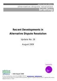 Recent Developments in Alternative Dispute Resolution
