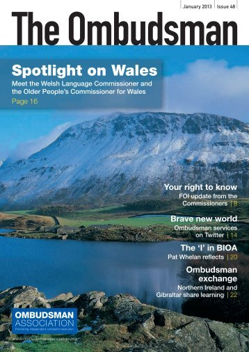 Issue 48, Jan 2013 - British and Irish Ombudsman Association