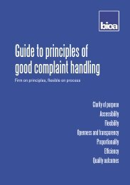 Guide to principles of good complaint handling - British and Irish ...