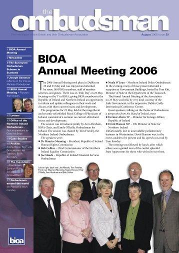 29 Ombudsman.indd - British and Irish Ombudsman Association