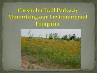 Chisolm Trail Parkway: Minimizing Our Environmental Footprint