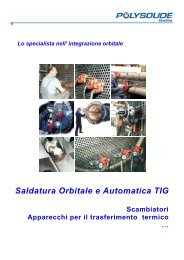 Saldatura Orbitale e Automatica TIG - Polysoude