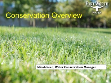 Water Conservation Overview