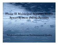 Phase II Municipal Separate Storm Sewer System (MS4) Permits