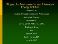 Biogas - Society of Texas Environmental Professionals