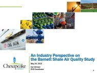 An Industry Perspective on the Barnett Shale Air Quality Study