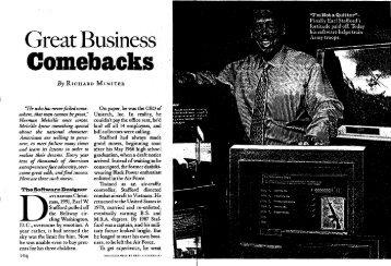 Great Business Comebacks - Richard Miniter