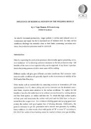 influence of residual oxygen on the welding result - Polysoude