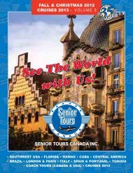 fall & christmas 2012 cruises 2013 – volume 5 - Senior Tours Canada