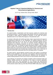 Gapless Tube-to-Tubesheet Welding for Chemical and - Polysoude