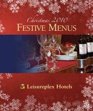 Sample Leisureplex Xmas Menu - Leisureplex Hotels