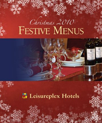 Sample Leisureplex Xmas Menu - Leisureplex Hotels