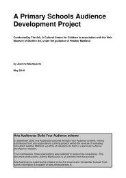 A Primary Schools Audience Development Project - Arts Audiences