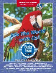 Senior Tours Canada Winter & Spring 2014 – Volume 1