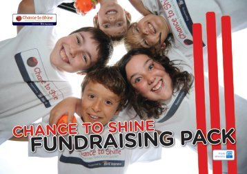 fundraising pack - Chance to Shine