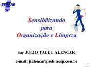 Sensibilizando para a Organização & Limpeza - Sebrae