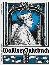 Ausgabe 2007 - Walliser Jahrbuch